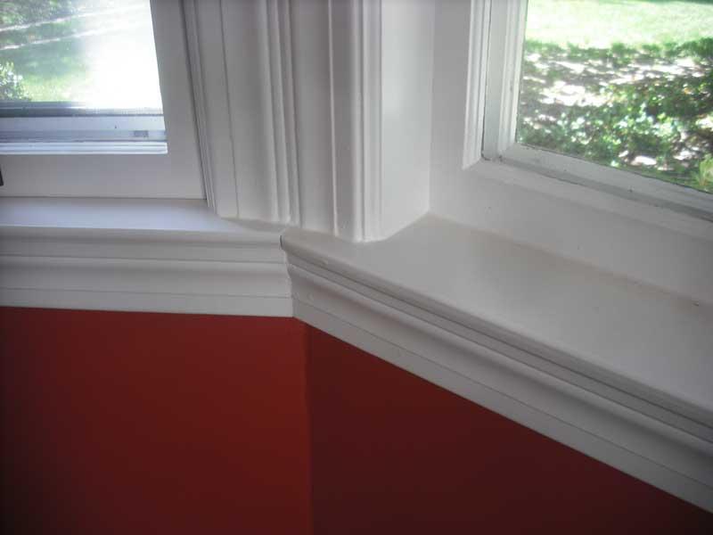 Bay Window Before · Interior Trim Before