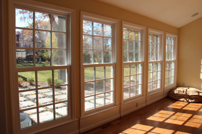 Wall of windows.