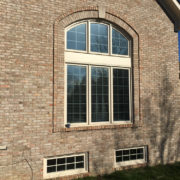 × Before – Notice The Busy And Inconsistent Grille Pattern Of The Arched Window…the Arched Portion Of The Window Is A Total Of Six Lites Wide While The Casement Windows Below The Arch Are Nine Lites Wide.