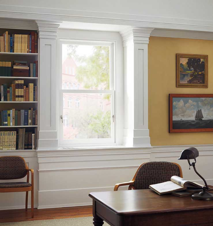 tilt turn window in traditional office