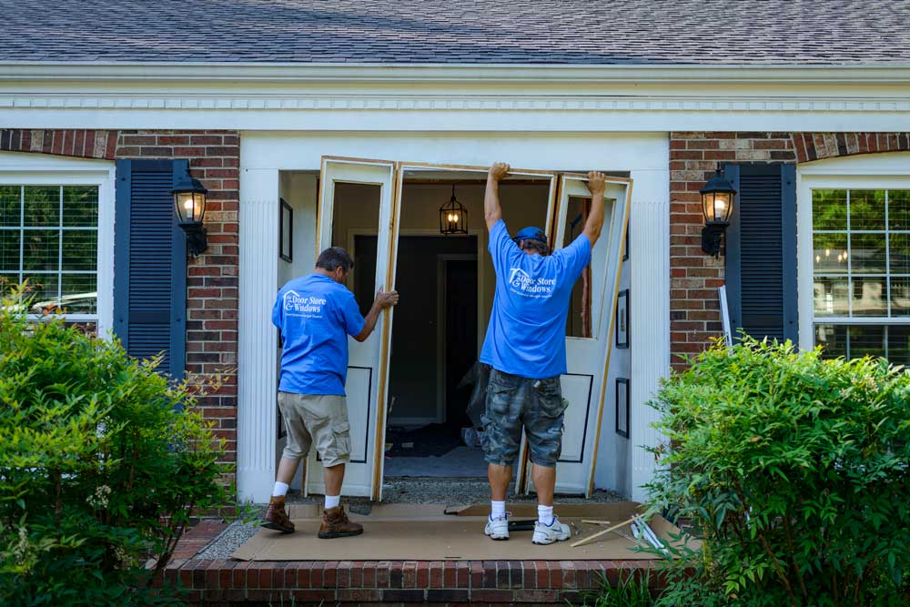 It can be a bit shocking to see such a large opening in your home. Our team works quickly and efficiently to install your new product the same day.